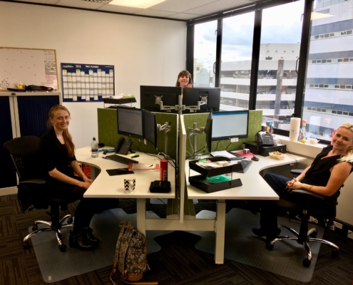 Technical Recruitment Solutions Girls 3-Seater Desk