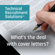 Cover Letter CV Technical Recruitment Solutions